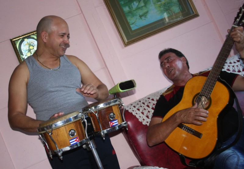 Music puts smiles on Cuban faces.