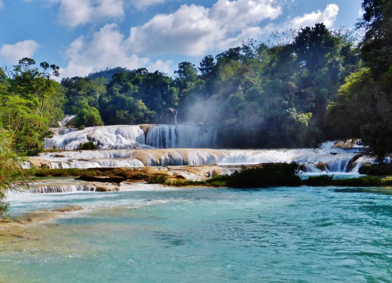 We had heard of the waterfalls at Agua Azul, but nothing prepared us for their stunning beauty.