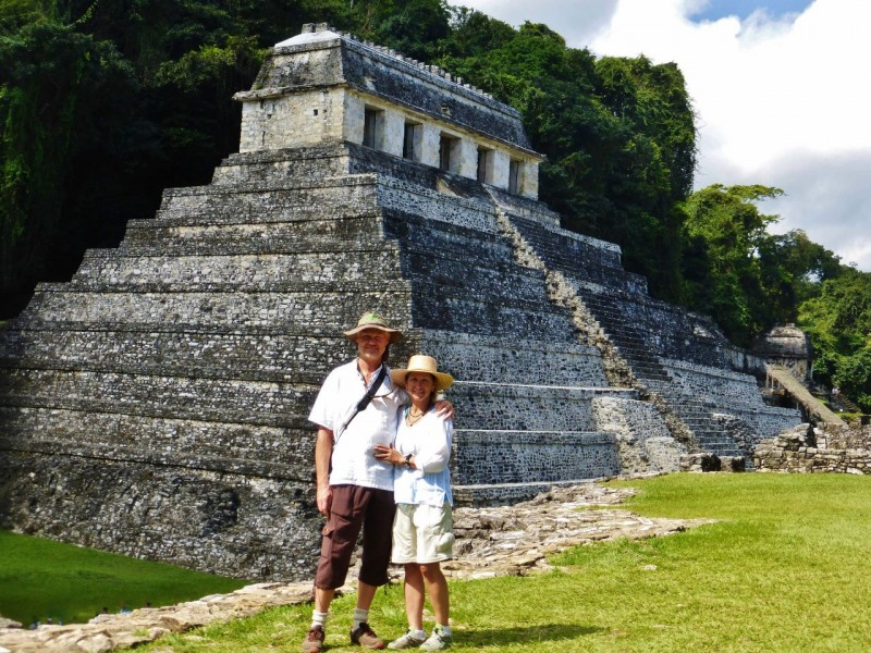 The spectacular ruins at Palenque…actually Palenque was the name of the Mayan king who built this Palace around 600AD.