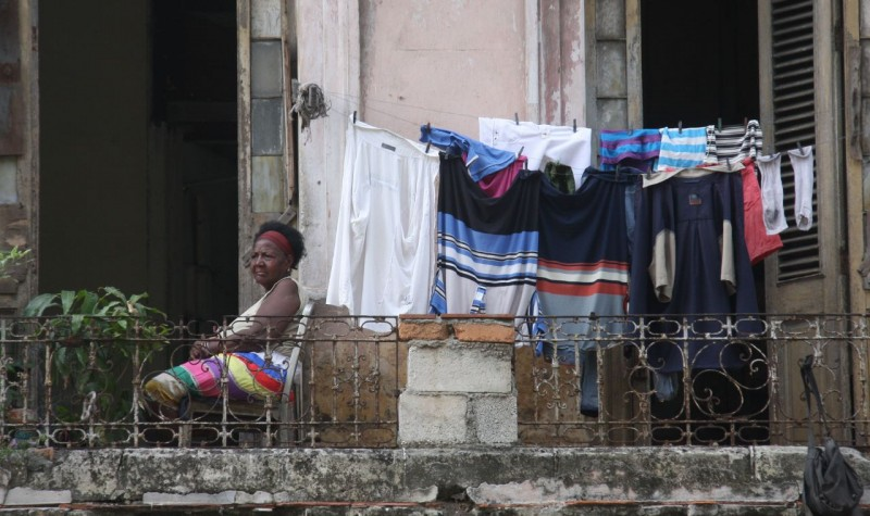 Just hanging out with the laundry.  There seemed to be many more people not working than vice-versa on the streets of Havana.  Why work when there is nothing to gain from it?