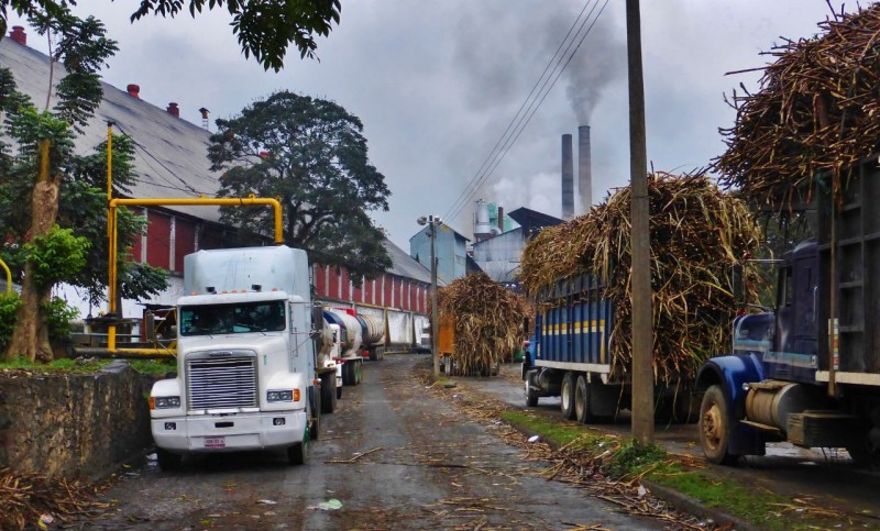Raw cane went in…processed liquid sugar, poured into tankers, came out…