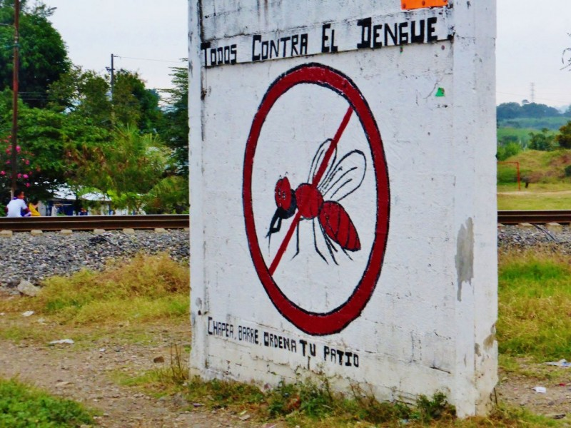 Hand painted, public service messages like this have been common throughout the remote areas of Mexico.  This one warned against Dengue fever and the dangers of standing water.  I'm pretty sure I even spotted a Leprosy sign out of the corner of my eye once, but failed to get the photo.