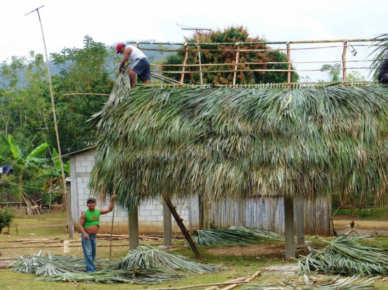 How to make a thatched roof…