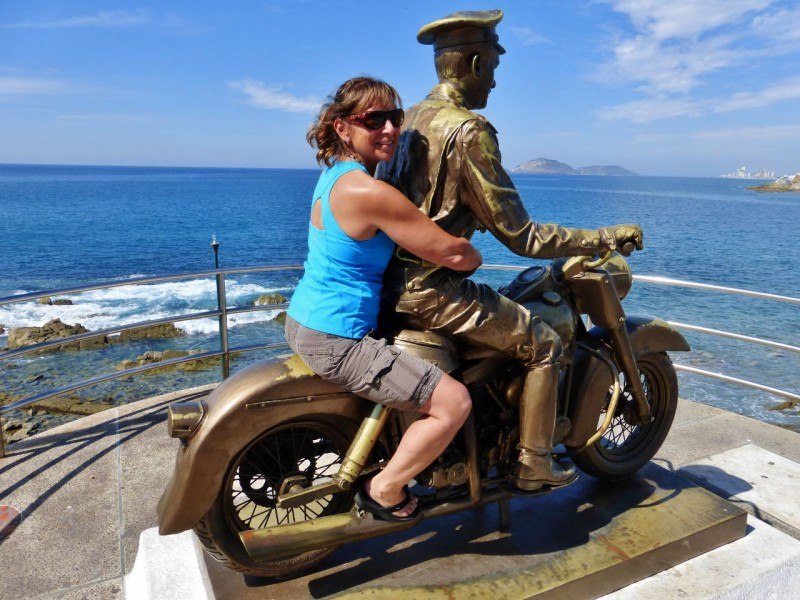 Lots of unusual sculptures lined the Malecon, the beachside walkway in Mazatlan.