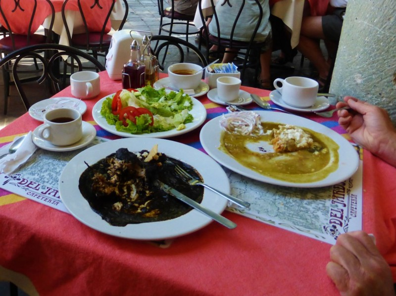 The Oaxaca region is famous for Moles, sauces made with chocolate.  Our meals were delicious.