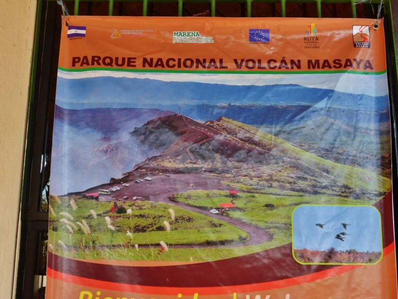 From Managua we continued south to the Parque Nacional Volcan Masaya. This is a National Park with a live volcano that you can drive right to the edge of and peer down into.