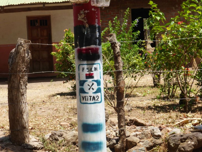 They are still around.  This is a pole for the F.S.L.N. or Frente Sandinista de Liberacion or Sandinista National Liberation Front which is still an active political party and has candidates in current elections but they never win.