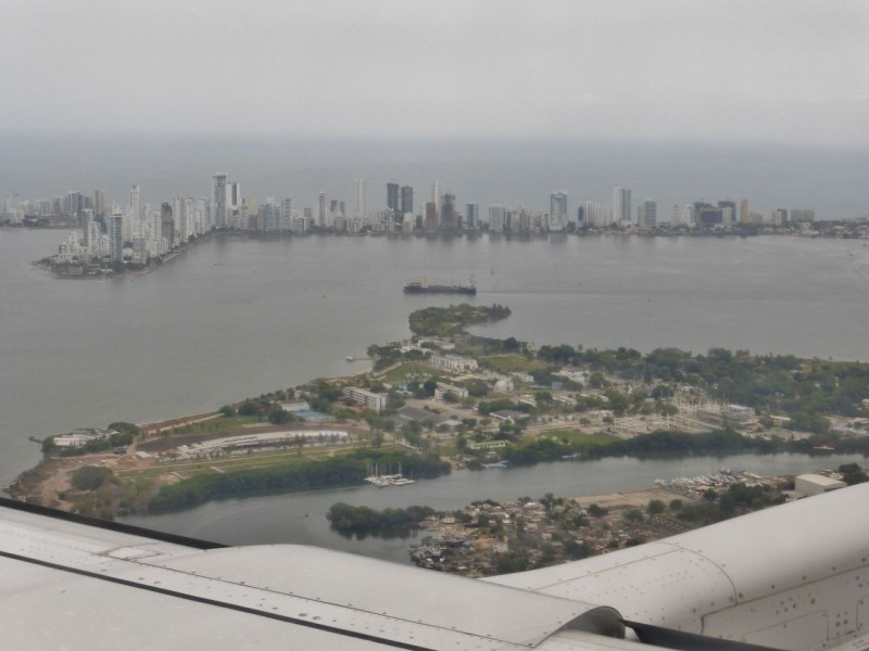 Flying into Cartagena…South America, a new continent!