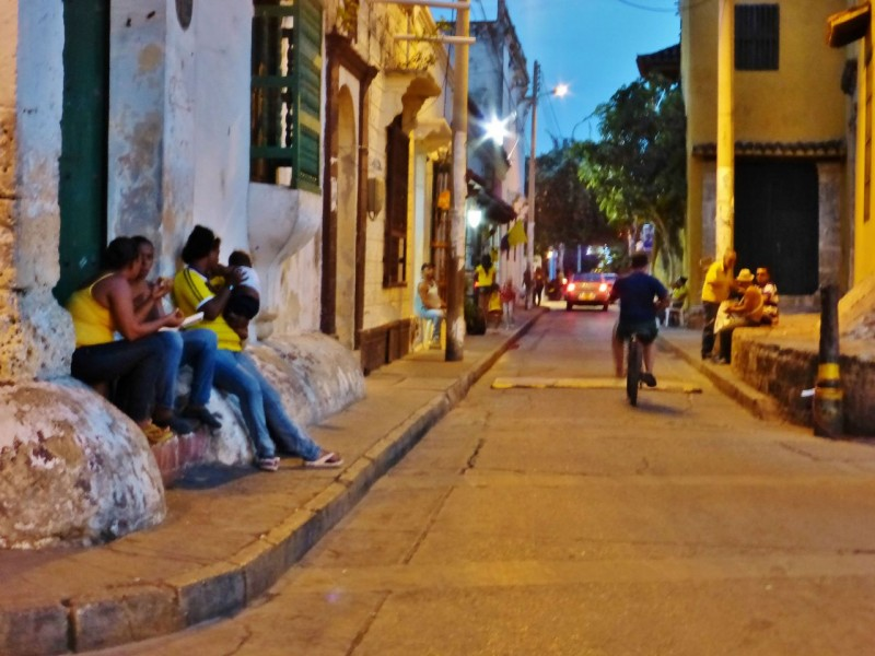 Night time in our little local barrio was even more fun.  Everyone comes out to enjoy the balmy evenings after roasting all day.