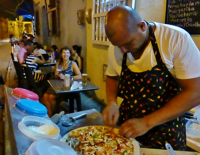 We loved watching this artist create our delicious pizza out of fresh, local ingredients.