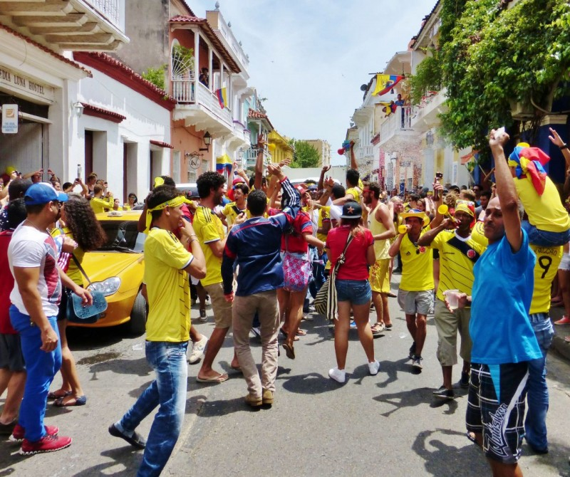 Another victory for Colombia resulted in a massive street party.