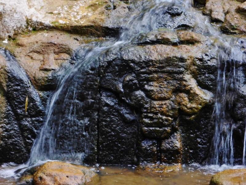 Carvings in the creek.