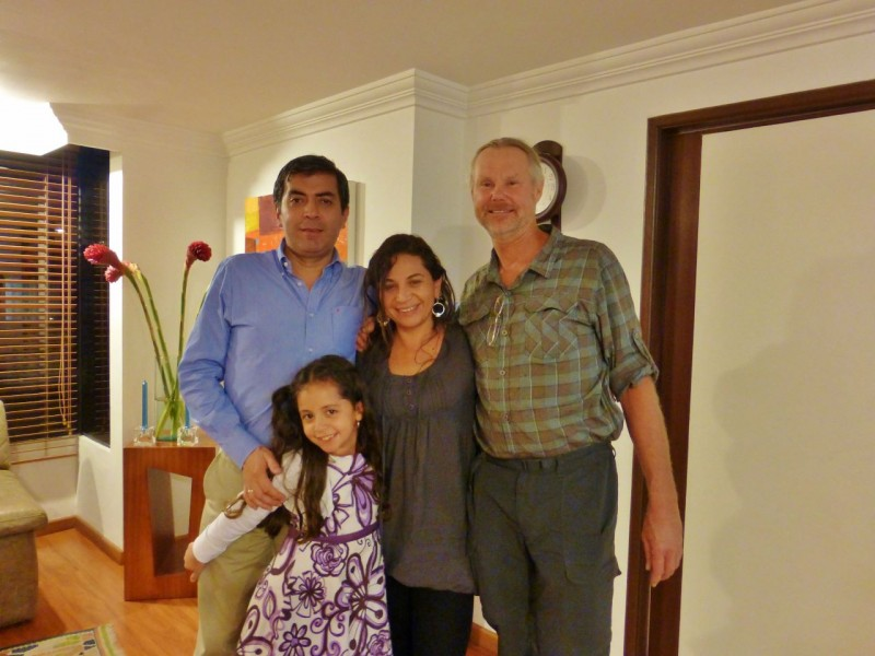 Our other new best friends in Bogota are Alvaro and Lilianna Pachon and their adorable daughter Marianna.  I actually met Alvaro at the SEMA show (Specialty Equipment Market Association) in Las Vegas last November. When I told him of our impending trip south, he promised me when we got the Bogota he'd take us 4 wheeling with his friends and offered any help we needed in the city.  We've kept in touch throughout our journey south and when we got to town, Alvaro found us a great hotel just down the street from his home.  On a Saturday, true to his word, we piled into his Land Cruiser and met up with six other rigs and a bunch of enthusiastic 4x4 friends, all eager to get out of the city and into the dirt for a day – just like my 4x4 friends at home.  Besides 'wheeling, one evening Lilianna had us to their home for a wonderful dinner and we joined the family another night for dinner at their favorite burger joint.  The hospitality we received in Bogota has been the best of the entire trip.