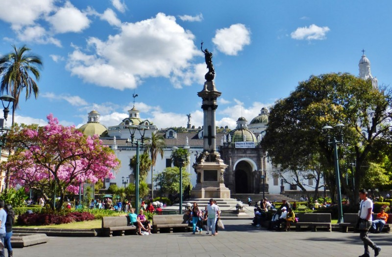 Unable to avoid it, we found ourselves back on the Pan American Highway, in order to visit the Capital city of Quito.  We found the large colonial town to be beautiful, ancient and lovingly preserved.