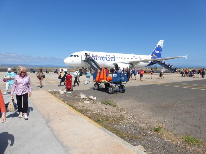 Our last minute decision to book an eight day cruise in the Galapagos Islands included a flight from Guayaquil, Ecuador to the primitive airport on Santa Cruz Island.  Being part of Ecuador meant that there was no complicated immigration to arrive on the islands.  We had already imported ourselves!