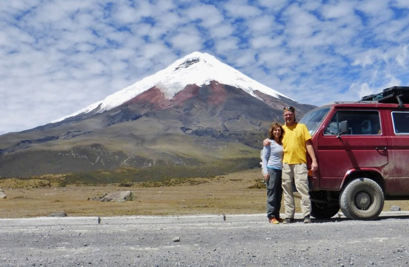 Our next stop along the Avenue of the Volcanoes was the famous Cotopaxi, the second highest active volcano in the world at19,342 ft.