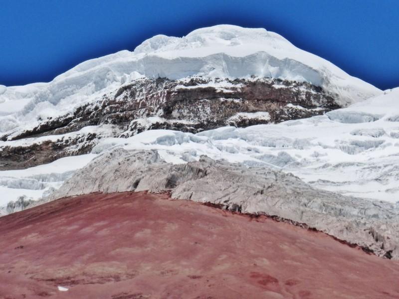 The glacier's edge.