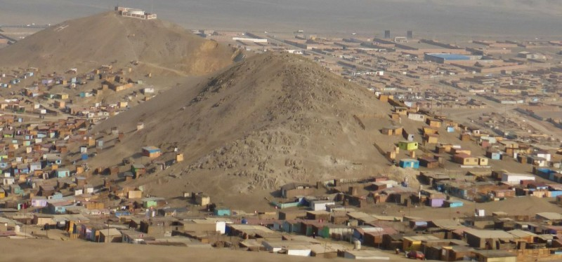 The shantytowns on the outskirts of Lima.