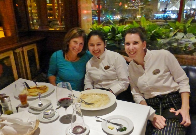 For once we don't have pictures of the food because we ate it too quickly.  These were our favorite waitresses at the Swiss place who couldn't have been cuter.  Shirley, in the middle was Peruvian and named thus because her parents liked Shirley Temple.  Antonia was from Romania and had come to Lima with a boyfriend who had subsequently dumped her.  She had been in Peru for two years but said she was sad and lonely and was thinking of going the join her mother in Germany, but didn't look forward to it because she thought Germans were so cold. We wanted to adopt her!  Here was this cute young girl with no country, no home, no family and looking at a dim future in a country she didn't want to live in.  We are so lucky to be Americans. Stay tune for Peru Part II to find out if the southern half of the country lifts the funk.  Does Kat get better?   Do I get sick?  Stay tuned!