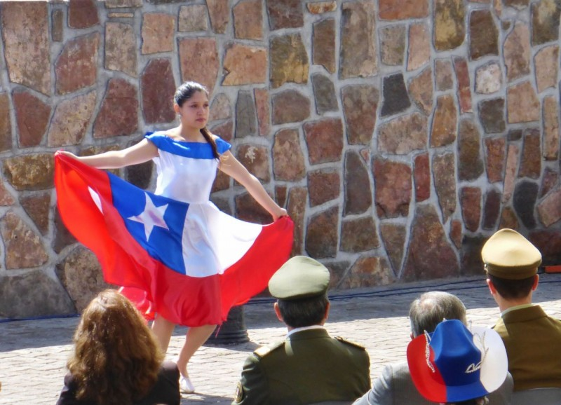 It appeared as if the history of Chile was being played out, and it was fun to see in spite of not feeling well.