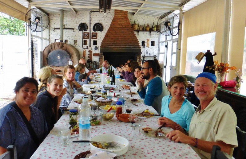 …We had arrived just in time for what turned out to be a rather famous daily lunch. All these other people were one-day clients, there for a horseback ride and a meal before being bused back to the city.  It turned out we had the whole place, and the owner's wonderful hospitality, all to ourselves for the rest of the day and evening.