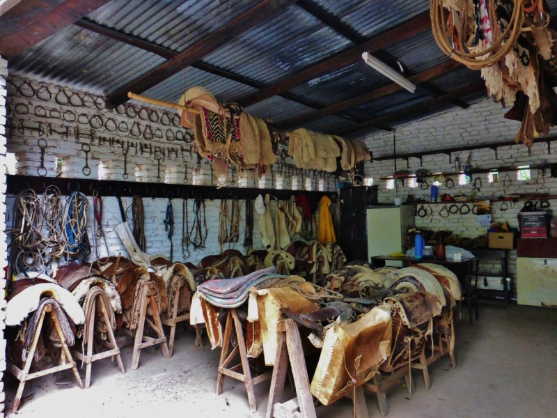 Now on to the horsey stuff…cool Argentinean tack room…