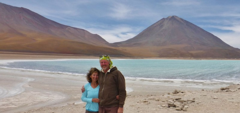 On the shores of Laguna Verde after crossing 250+ miles of remote Bolivia.