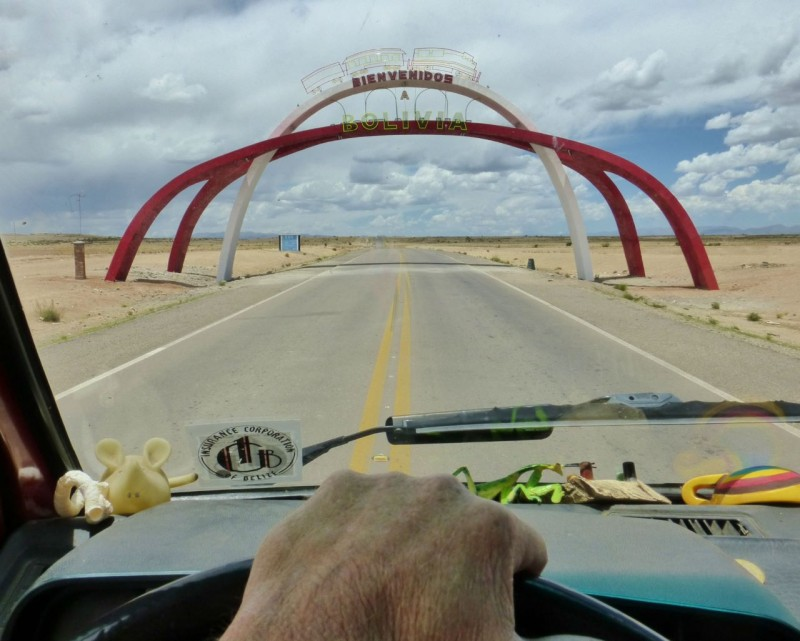 Leaving the bustle of Villazon we crossed under this elaborate welcome bridge leading into the desert.  It was the first sign that Bolivia might not be exactly what we expected.