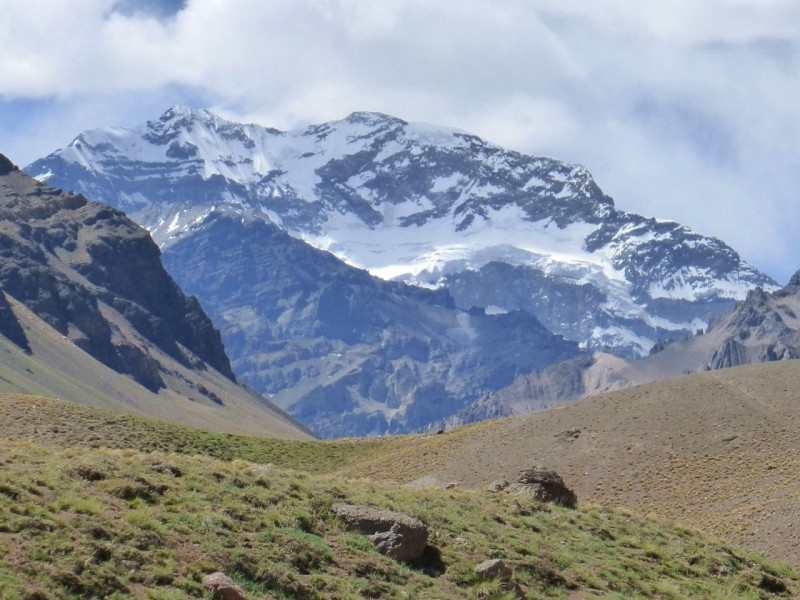 A brief view of Aconcagua, the highest mountain in the western and southern hemispheres, at 22,837ft.  No immediate plans to climb it.