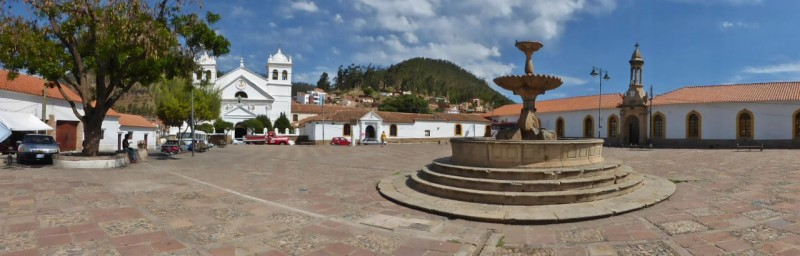 Plaza de Pedro de Anzurez, the oldest part of Sucre, named after the founder of the town.