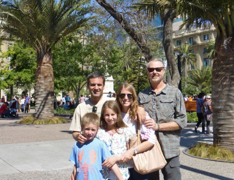 Later that day, Sebastian, Luz, Emily and Seba (short for Sebastian) treated us to a tour of lovely, downtown Santiago.