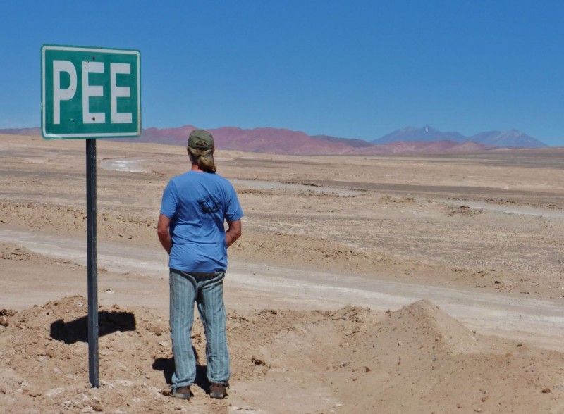 Those Chileans think of everything… designated pee areas in the middle of nowhere.