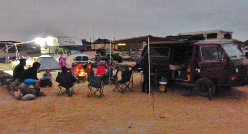 This is a terrible picture but it gives an idea of what camping at Basecamp looks like. Good friends, good times, happy kids, campfires, good stuff.