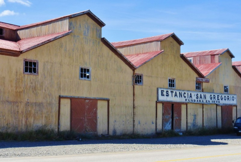 Along the beautiful blue waters of the Straights, we came upon this historic Estancia and decided to look around.  We were in for some big surprises.