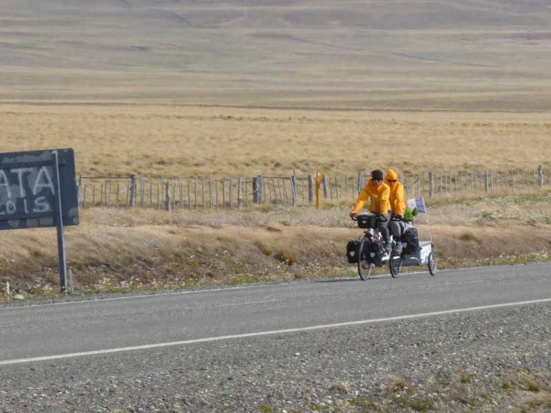 We passed dozens of cyclists braving the wind and cold and making us feel like old weenies living in the lap of luxury.  These two teenage boys from France were pedaling a tandem bike the length of Patagonia. They should have incredible stories to tell their kids.