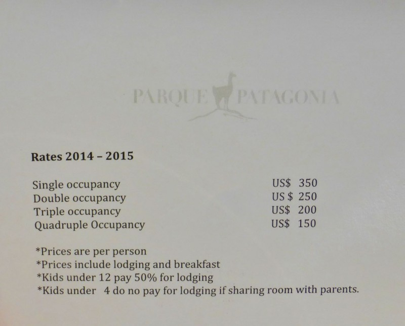 …as did the prices for lodging.  It would have cost us $500 per night…