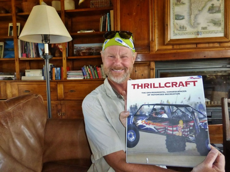 "Ned was particularly amused to find this book. In his words, ""Isn't Tompkins's airplane as much a ""thrillcraft"" as my Jeep, race cars or Charlotte?  Hypocrite!"""