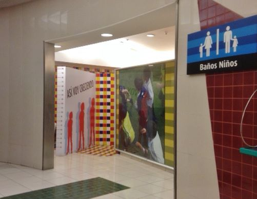MallSport is also the first place I have seen a kid's only bathroom.