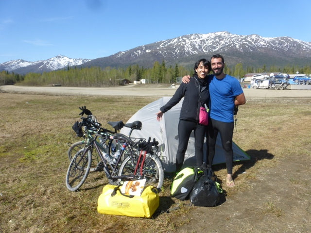 We ran in to Demis (Switzerland) and Nancy (Mexico) at Coldfoot. They had flown their bikes to Deadhorse and were riding to Fairbanks!
