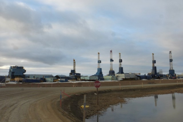 Deadhorse/Prudhoe Bay skyline.
