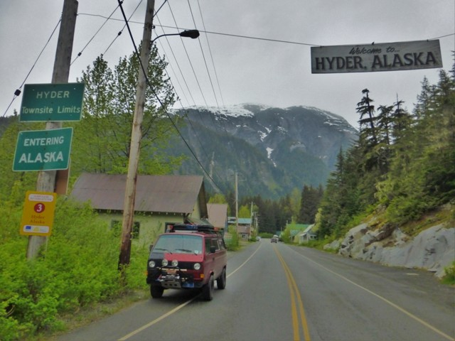 This is pretty much all there is to Hyder, Alaska. There isn't even an official USA border crossing but there is an official Canadian crossing to go back into Canada –where they asked us the same kind of crazy questions they had asked in Vancouver! And we were only in Hyder a couple of hours!