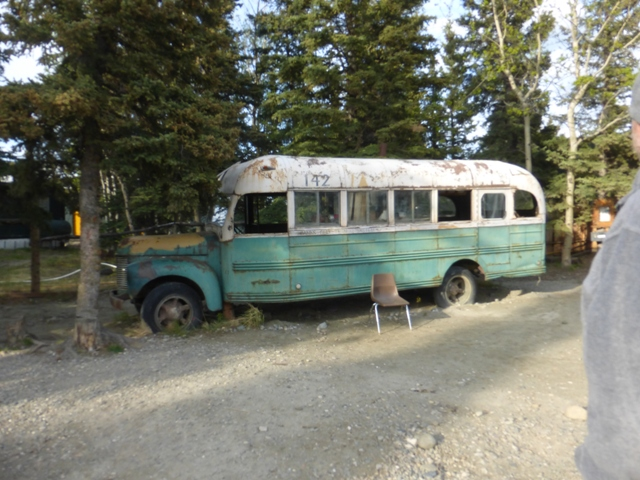 In Healy we checked out the bus used in the film Into the Wild. It's a replica of the Fairbanks City Transit System Bus #142 that Christopher McCandless died in. Locals told us the real bus is still out in the wilderness, 35 miles west of Healy.