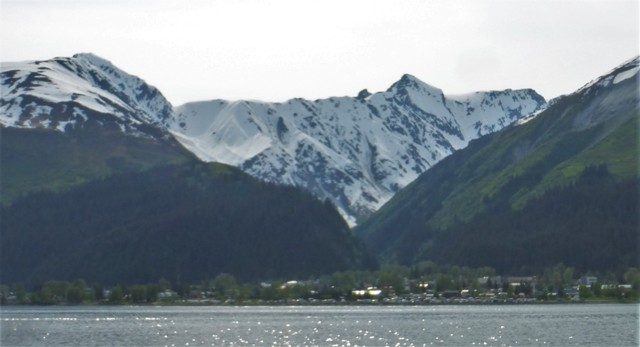 Entering Seward by boat…