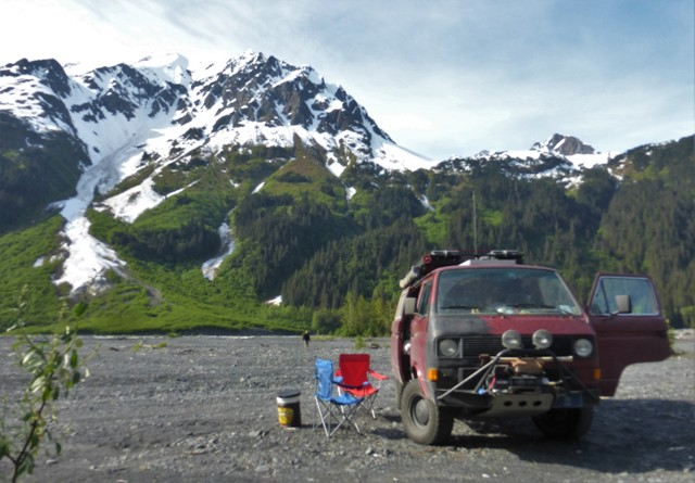 Another beautiful camping spot outside of Seward.