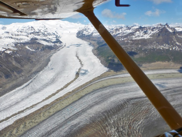 A confluence of two glaciers!