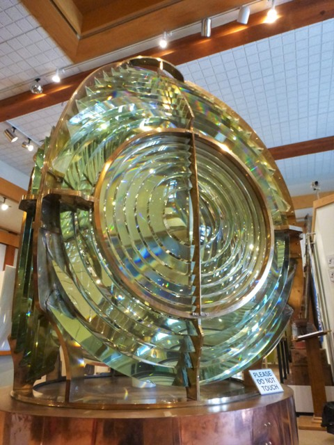 This intricate, glass lens crowned the area's first lighthouse.